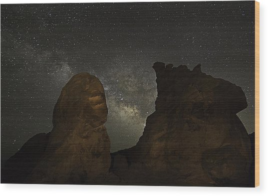 Wood Print featuring the photograph Milky Way Over The Seven Sisters 3 by James Sage