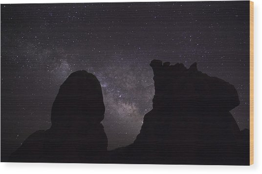 Wood Print featuring the photograph Milky Way Over The Seven Sisters 5  by James Sage