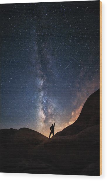 Milky Way Wood Print by Piriya Photography