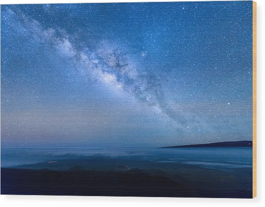 Milky Way Suspended Above Mauna Loa 1 Wood Print