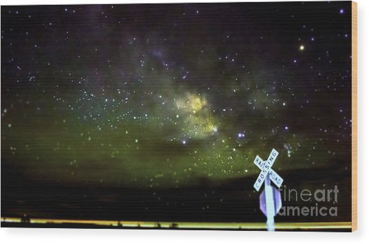 Milkyway  Crossing Blur Wood Print