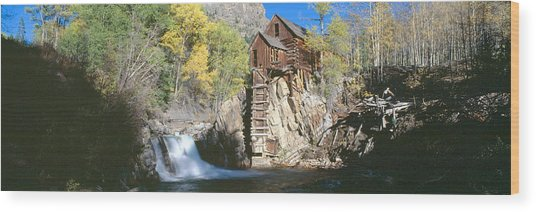 Mill At Crystal River Valley, Autumn Wood Print