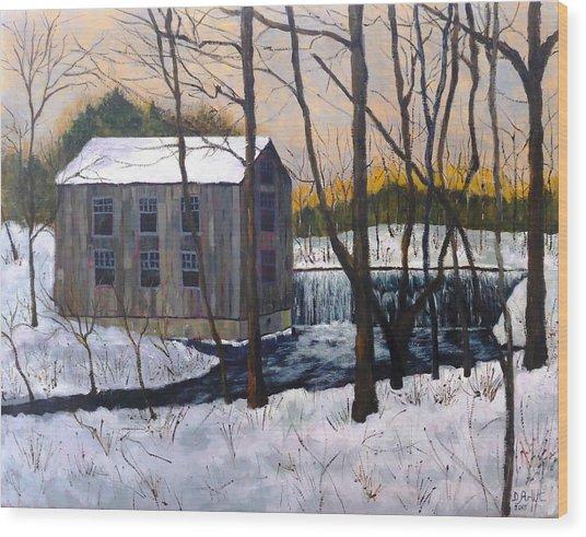 Mill At Walters Falls Wood Print
