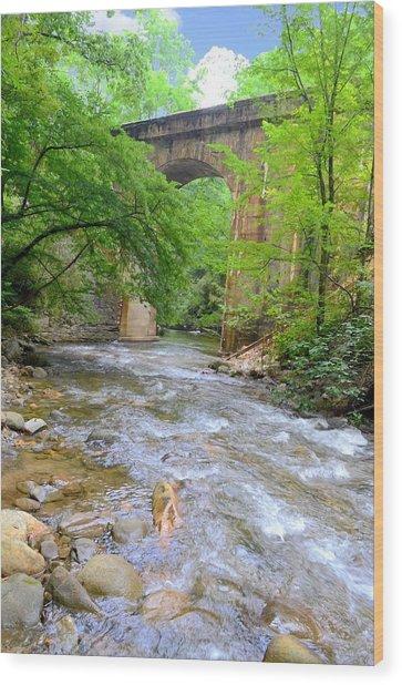 Mill Creek Viaduct Wood Print by Bob Jackson