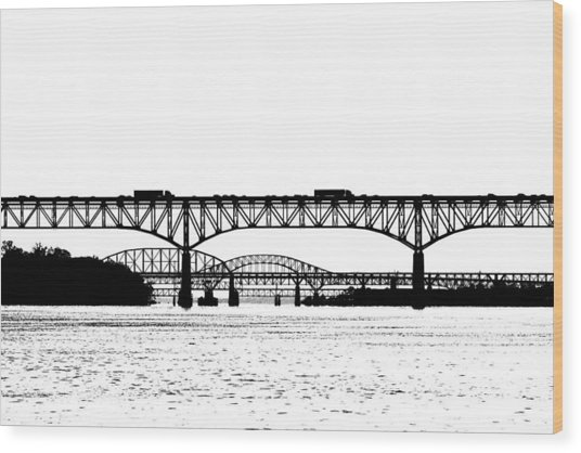 Millard Tydings Memorial Bridge Wood Print