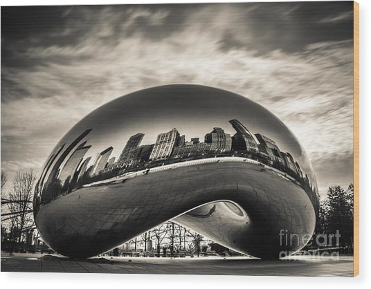 Millenium Bean  Wood Print
