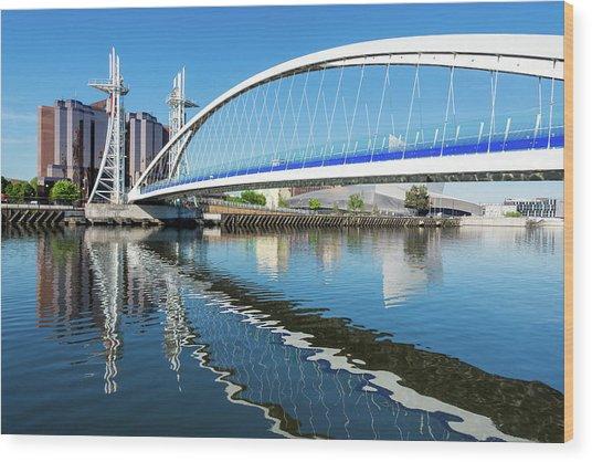 Millennium Bridge, Salford Quays Wood Print