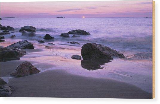 Millennium Sunrise Singing Beach Wood Print