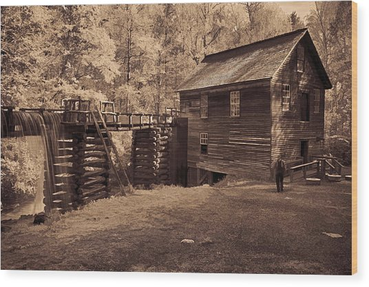 Miller At Mingus Mill  Wood Print