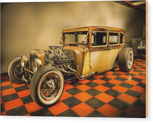 Millers Chop Shop 1929 Dodge Victory Six After Wood Print