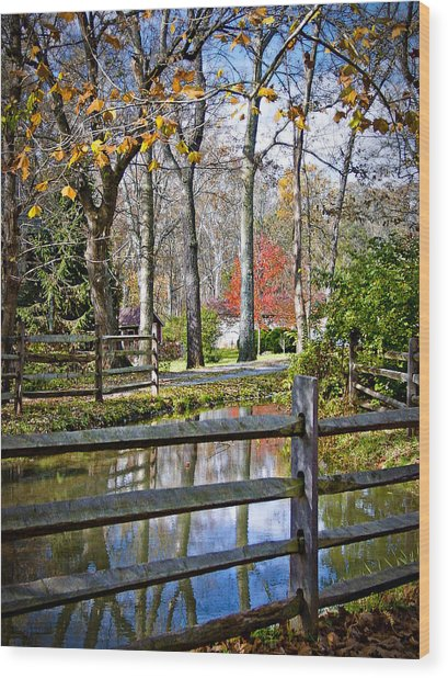 Millwood Wood Print by Williams-Cairns Photography LLC