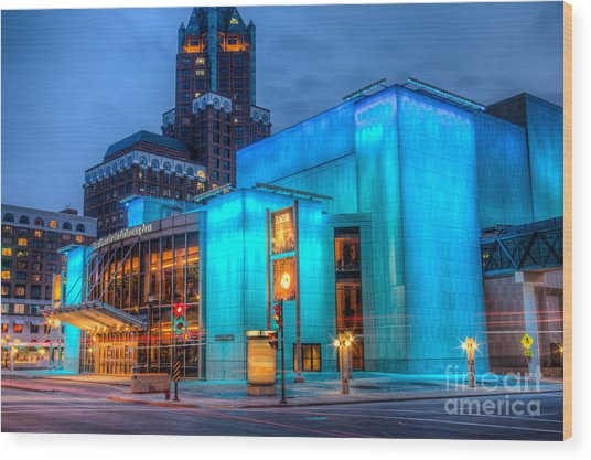 Milwaukee Pac Evening Glow Wood Print