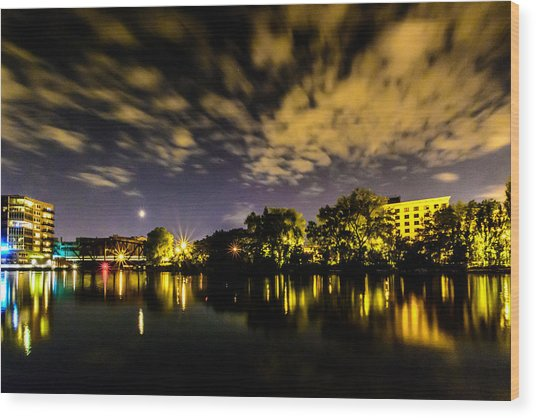 Milwaukee Riverwalk Wood Print
