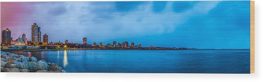 Milwaukee Skyline - Version 2 Wood Print