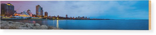 Milwaukee Skyline - Version 1 Wood Print