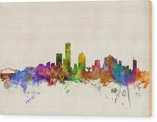 Milwaukee Wisconsin Skyline Wood Print