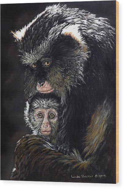 Mimi And Zuri Wood Print