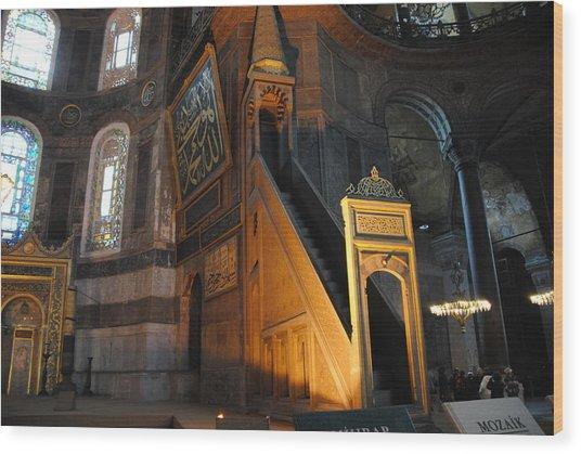 Minbar Of Hagia Sophia Wood Print by Jacqueline M Lewis