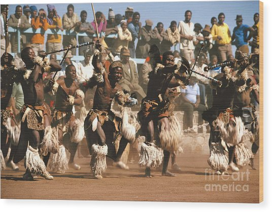 Mine Dancers South Africa Wood Print by Susan McCartney