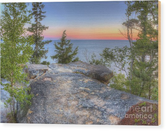 Miners Castle At Pictured Rocks Wood Print
