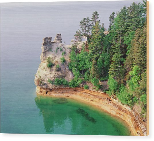 Miners Castle In Pictured Rocks Wood Print