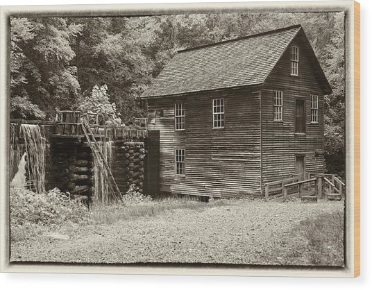 Mingus Mill Antiqued Wood Print