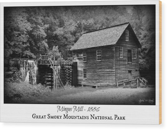 Mingus Mill -- Black And White Poster Wood Print