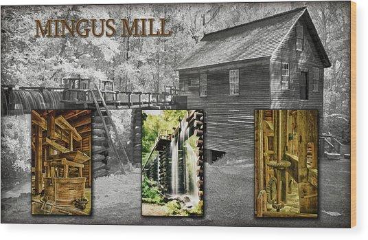 Mingus Mill Montage Wood Print