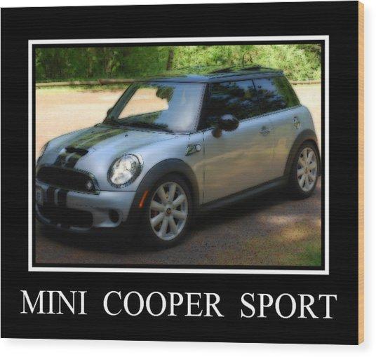 Mini Cooper Sport Wood Print