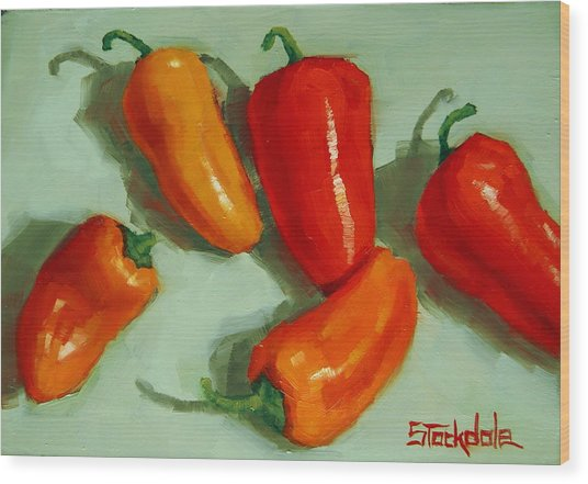 Mini Peppers Study 3 Wood Print