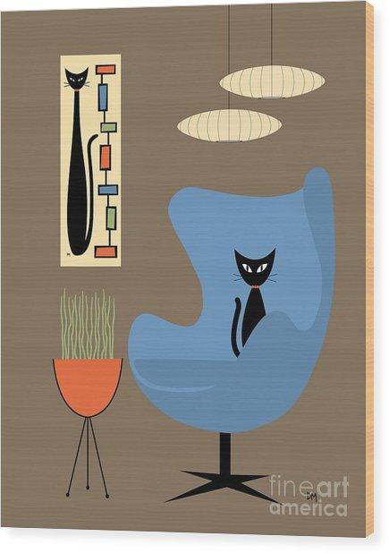 Mini Rectangle Cat Wood Print
