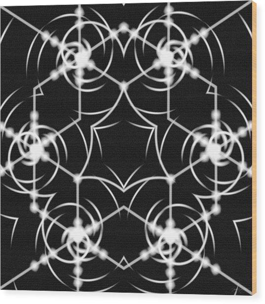 Wood Print featuring the digital art Minimal Life Vortex by Derek Gedney