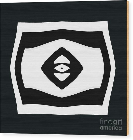 Minimalism Black White Geometric Abstract Art No.284. Wood Print by Drinka Mercep