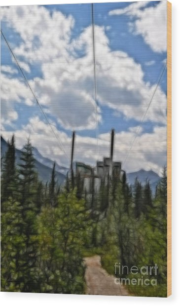 Mining Plant Fractal Wood Print