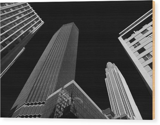 Minneapolis After Dark Wood Print