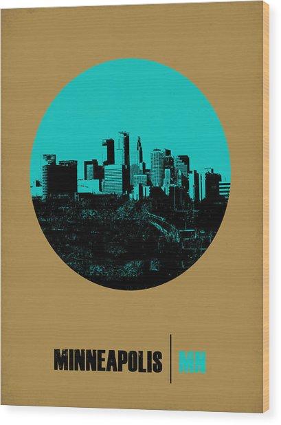 Minneapolis Circle Poster 1 Wood Print