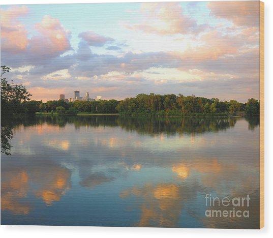 Minneapolis Lakes Wood Print
