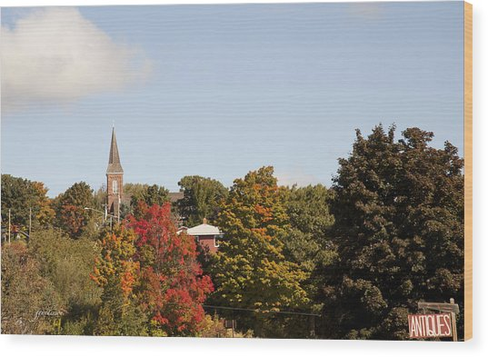Minnesota In The Fall Wood Print