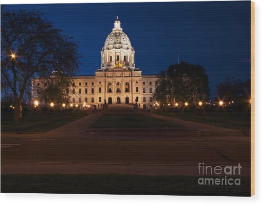 Minnesota State Capitol Wood Print by Kevin Jack