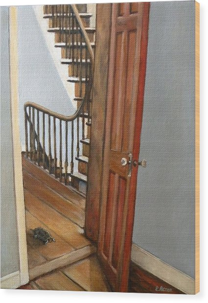 Minnie Crossing The Threshold  Wood Print