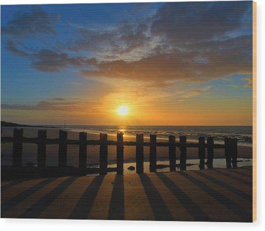 Minnis Bay Sunset Wood Print