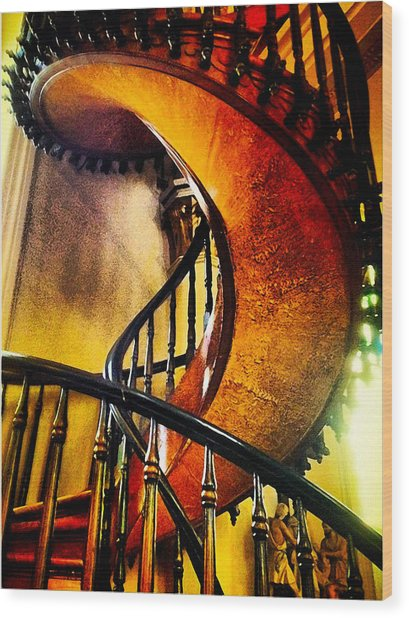 Miracle Staircase Wood Print