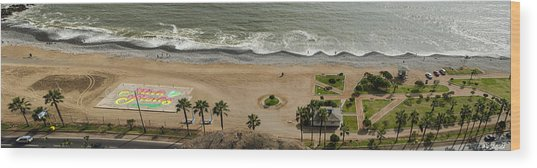 Miraflores Beach Panorama Wood Print