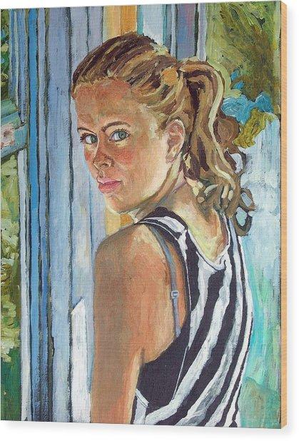 Miriam Wood Print by Janet Ashworth