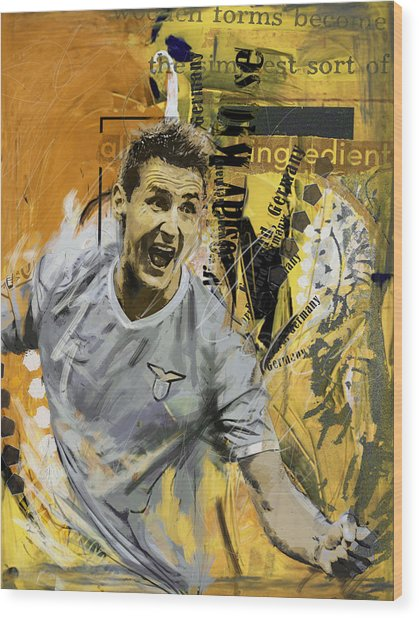 Miroslav Klose - B Wood Print