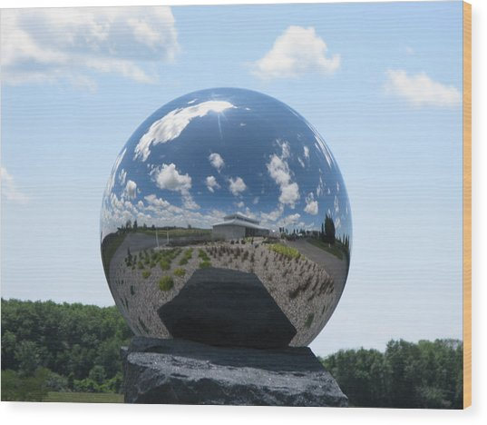 Mirror Ball Wood Print