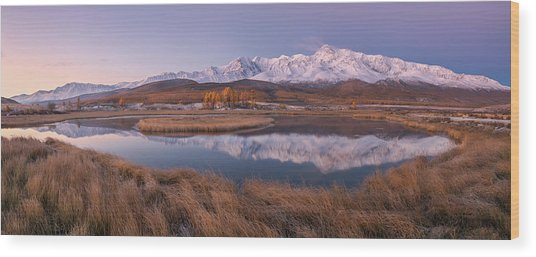 Mirror For Mountains 2 Wood Print