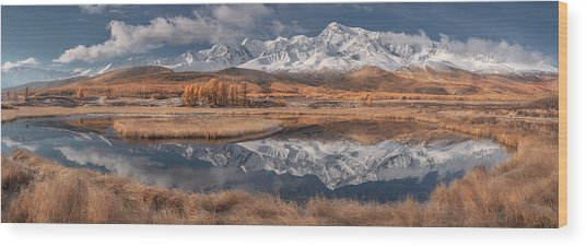 Mirror For Mountains 3 Wood Print