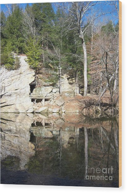 Sugar Creek Mirror Wood Print