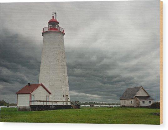 Miscou Lighthouse Wood Print